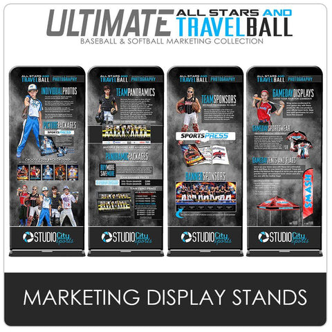 Marketing Display Stands - Ultimate All-Star & Travel Ball Marketing-Photoshop Template - Photo Solutions