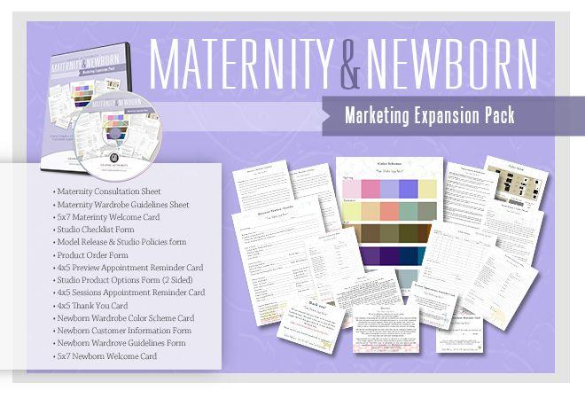 Maternity & Newborn Studio Marketing Collection-Photoshop Template - Graphic Authority