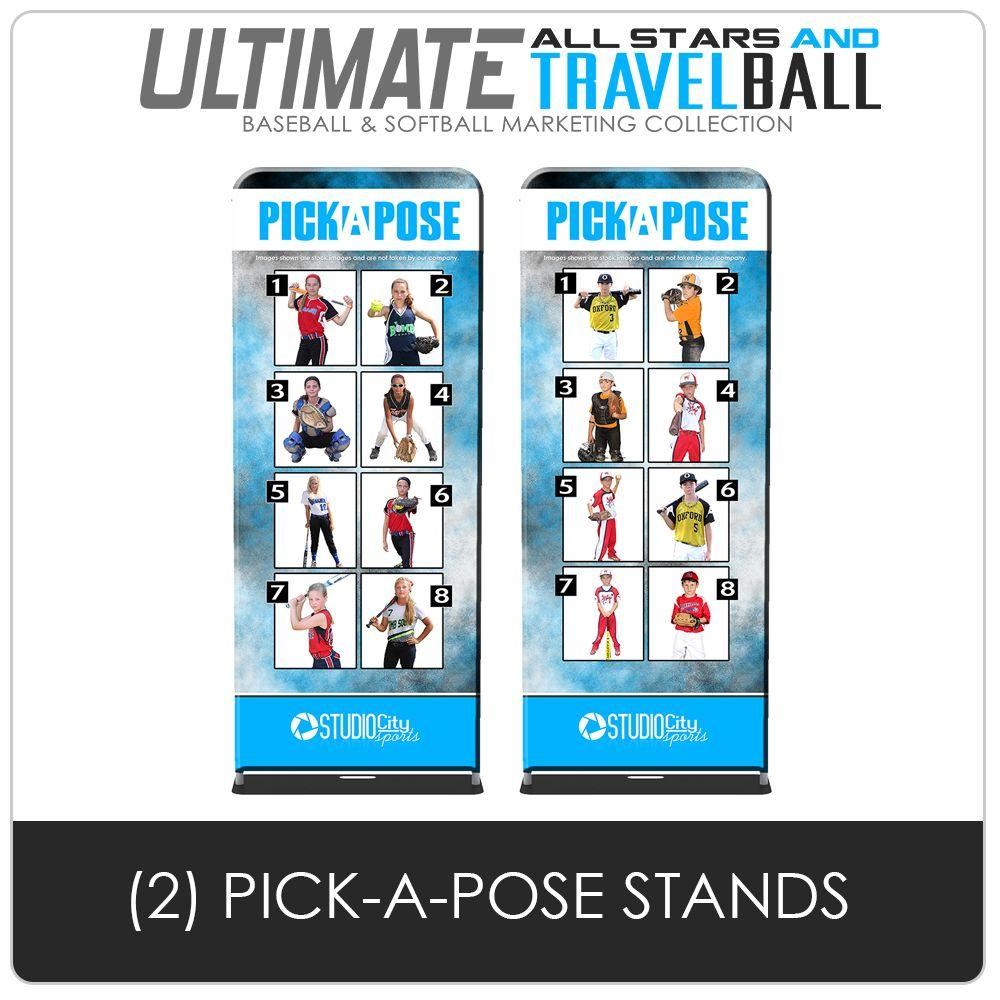 Pick A Pose Stands - Ultimate All-Star & Travel Ball Marketing-Photoshop Template - Photo Solutions