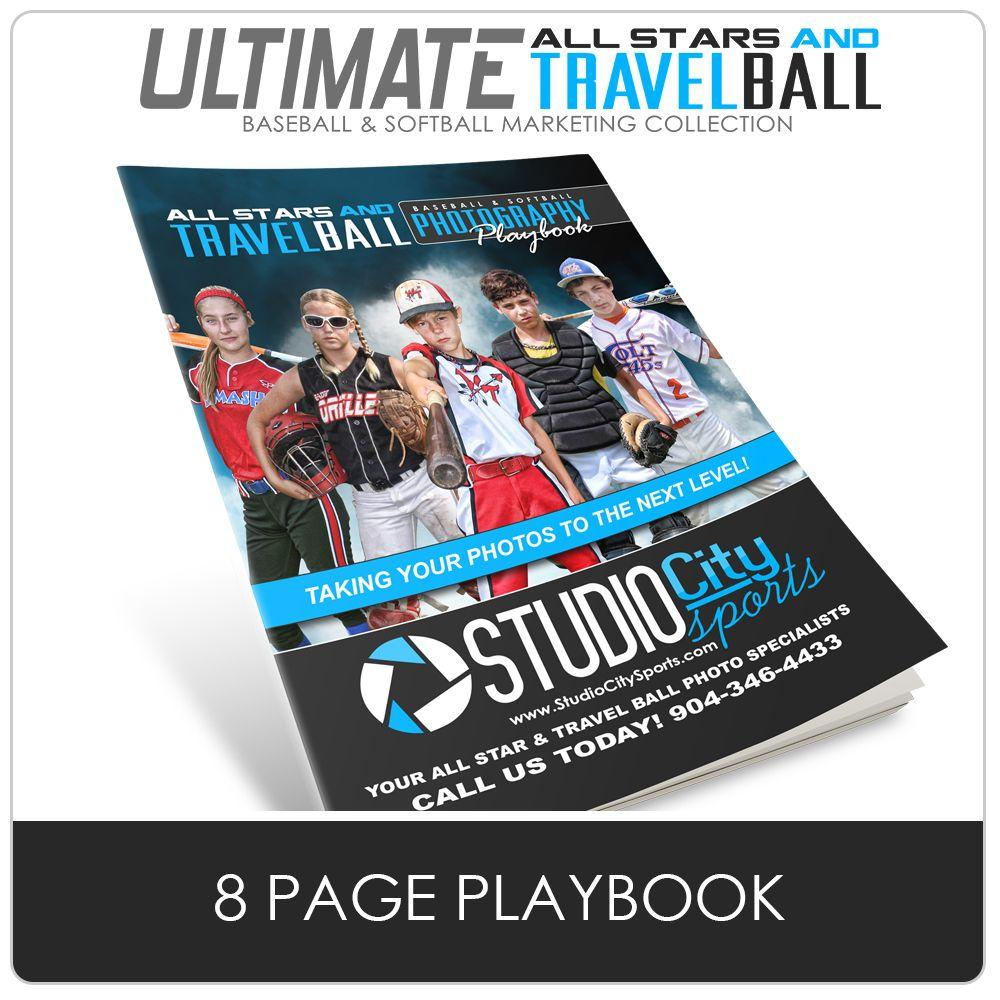 8 Page Playbook - Ultimate All-Star & Travel Ball Marketing Downloadable Template Photo Solutions PSMGraphix