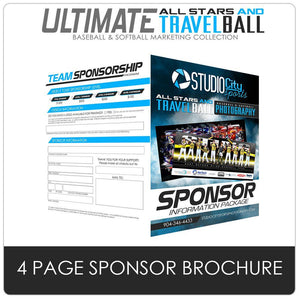 Sponsor Brochure - Ultimate All-Star & Travel Ball Marketing Downloadable Template Photo Solutions PSMGraphix