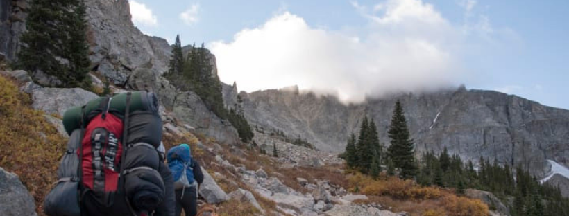 Backpacking in Colorado's Indian Peaks Wilderness in the Arapaho National Forest.