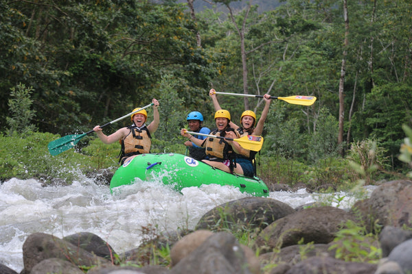 Ester and friends conquering the rapids