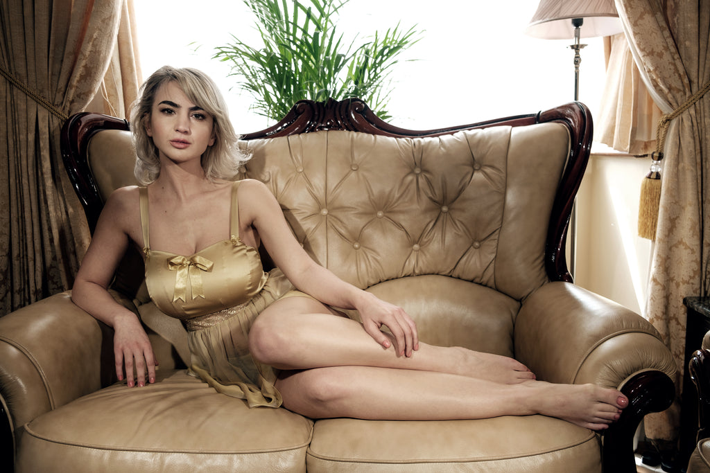 Josephine Babydoll in gold