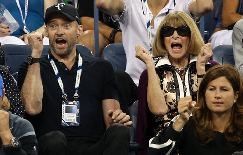 Hugh Jackman and Anna Wintour at Wimbledon