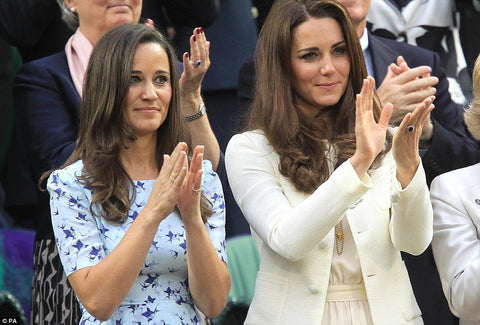HRH Duchess of Cambridge and Pippa Middleton at Wimbledon