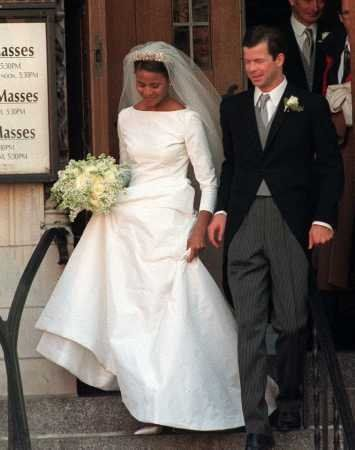 Princess Angela of Lichtenstein Wedding Dress