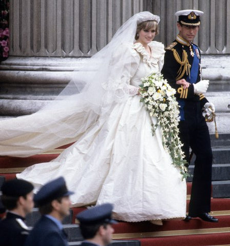 Diana, Princess of Wales Wedding Dress Designed by David and Elizabeth Emanuel