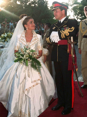 Queen Rania of Jordan Wedding Dress Designed by Bruce Oldfield