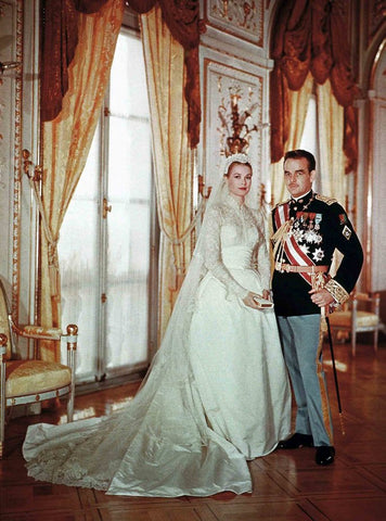 HSH Princess Grace of Monaco Wedding Dress Designed by Helen Rose