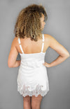 Back of the Michelle Chemise in ivory