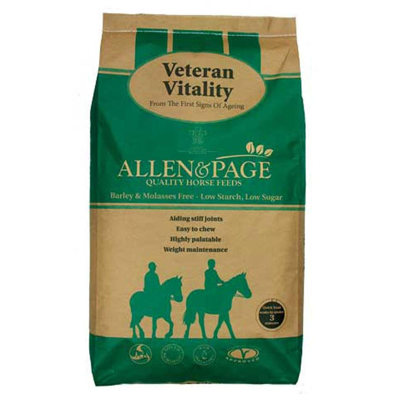 Allen & Page Veteran Vitality 20kg - Jacks Pet and Country