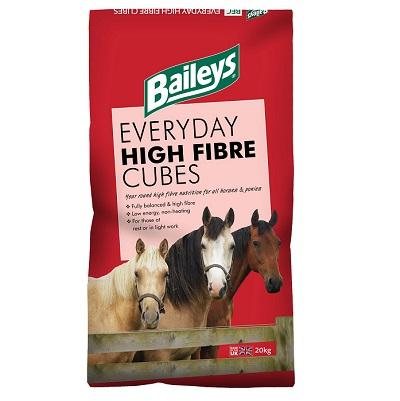Baileys Everyday High Fibre Cubes 20kg - Jacks Pet and Country