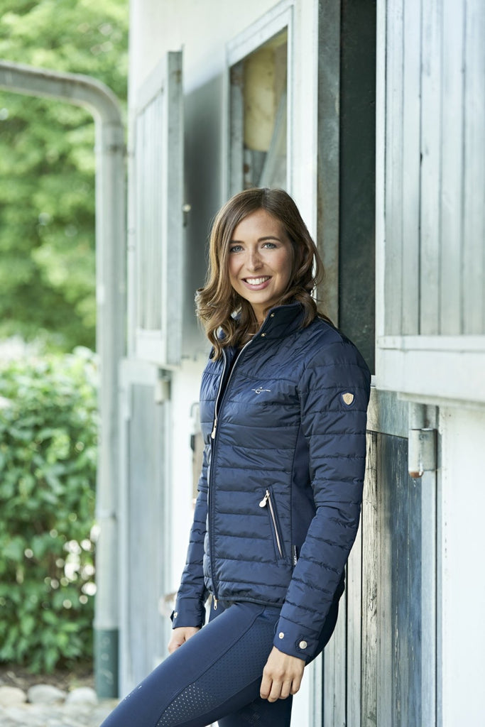 Covalliero Quilted Long Sleeve Navy Jacket - Jacks Pet and Country