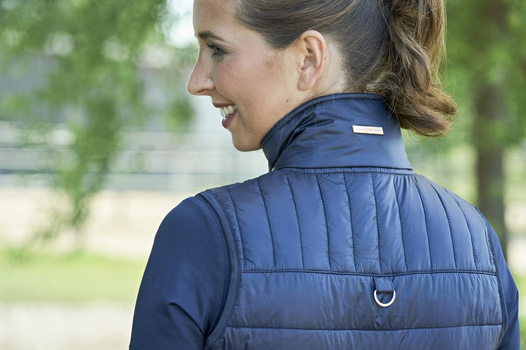 Covalliero Quilted Padded Navy Gilet Waistcoat - Jacks Pet and Country