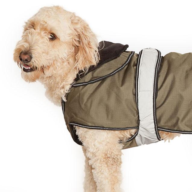 Danish Design 2-1 four seasons Dog Coat khaki - Jacks Pet and Country