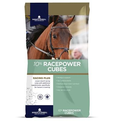 Dodson & Horrell Racepower Cubes 10% 25kg - Jacks Pet and Country