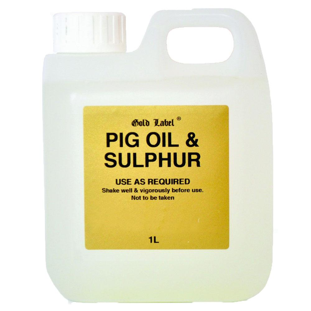 Gold Label Pig Oil & Sulphur 1Ltr - Jacks Pet and Country