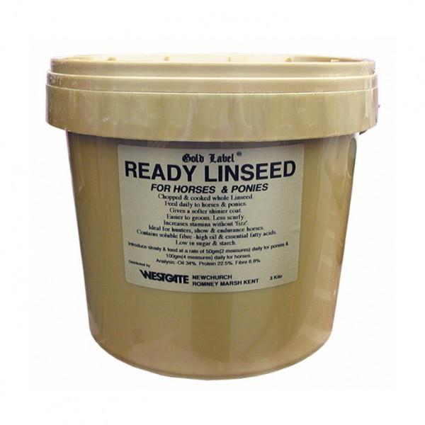 Gold Label Ready Linseed 3kg for horses and ponies
