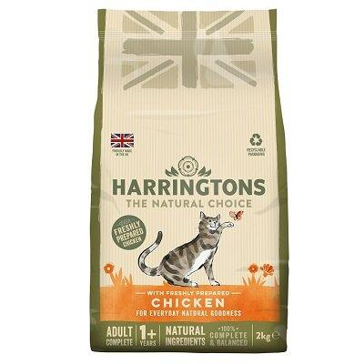 Harringtons Adult Cat 1+ with Chicken (2kg) cat food healthy bag  - Jacks Pet and Country