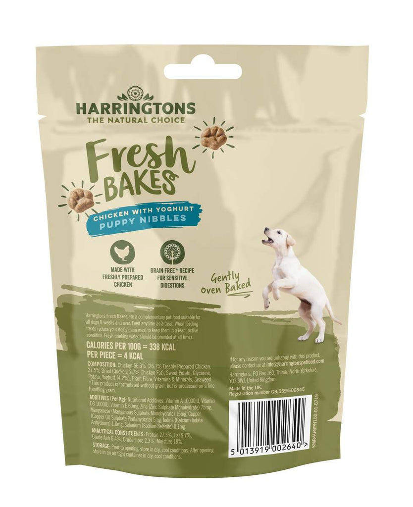 Harringtons Fresh Bakes Chicken with Yogurt Puppy Nibbles 100g - Jacks Pet and Country