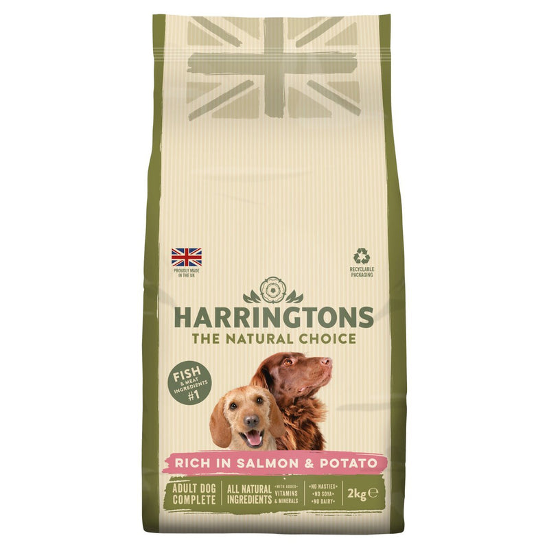 Harringtons Salmon and Potato Dry Dog Food 2kg - Jacks Pet and Country