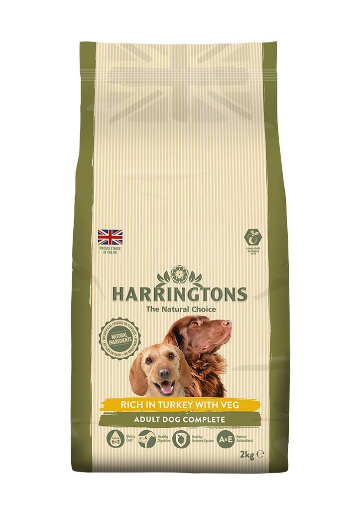 Harringtons Turkey and Veg Dry Dog Food 2kg - Jacks Pet and Country