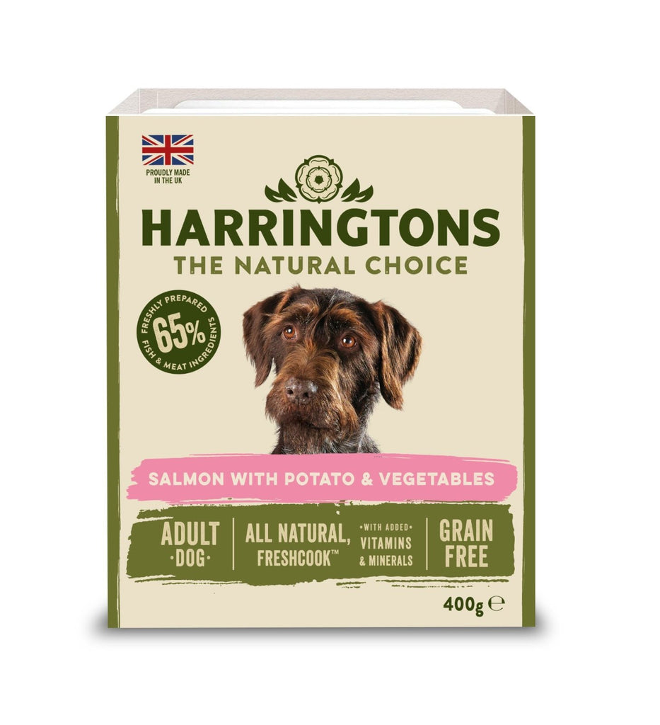 Harringtons Wet Salmon & Potato Trays (Various Sizes) - Jacks Pet and Country