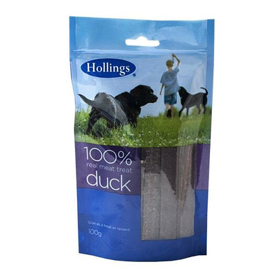 Hollings 100% Meat Treat Duck, 100g - Jacks Pet and Country