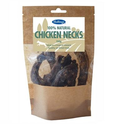 Hollings 100% Natural Chicken Necks, 120g - Jacks Pet and Country