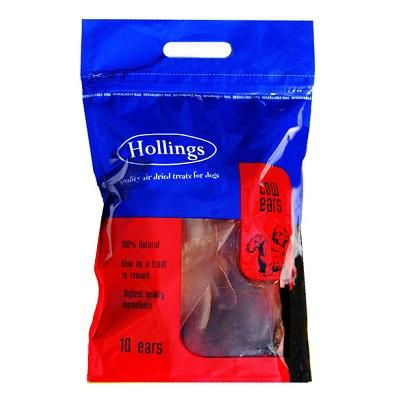 Hollings Cow Ears, Pack of 10 - Jacks Pet and Country