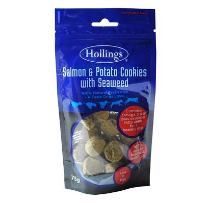 Hollings Salmon & Potato Cookies with Seaweed, 75g - Jacks Pet and Country