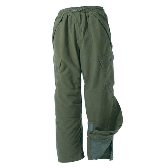 Jack Pyke Hunter Trousers Green pants hunting polyester drawstring waist zip leg