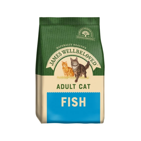 James Wellbeloved Adult Cat Fish food (Various Sizes) 1.5kg 300g - Jacks Pet and Country