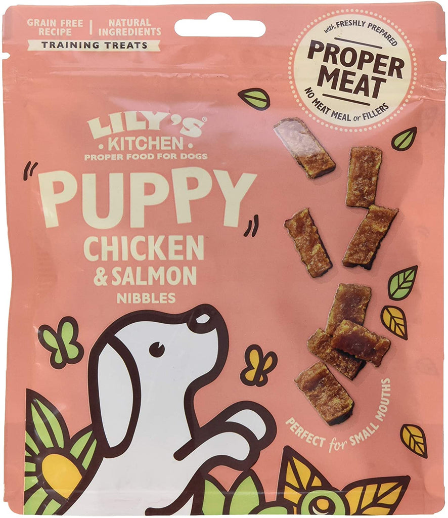 Lily's Kitchen Dog Puppy Chicken & Salmon Nibbles 70g - Jacks Pet and Country
