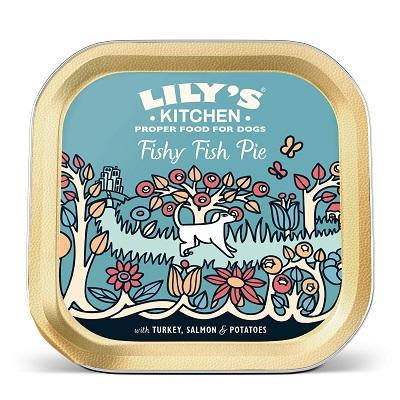 Lily's Kitchen Fishy Fish Pie 10 pack 5 pack 150g trays wet food dog food healthy Jacks Pet and Country