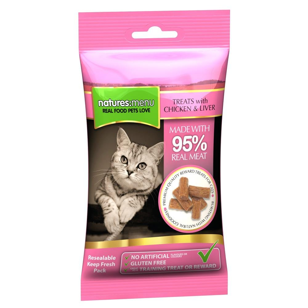 Natures Menu Chicken & Liver Cat Treats 60g - Jacks Pet and Country