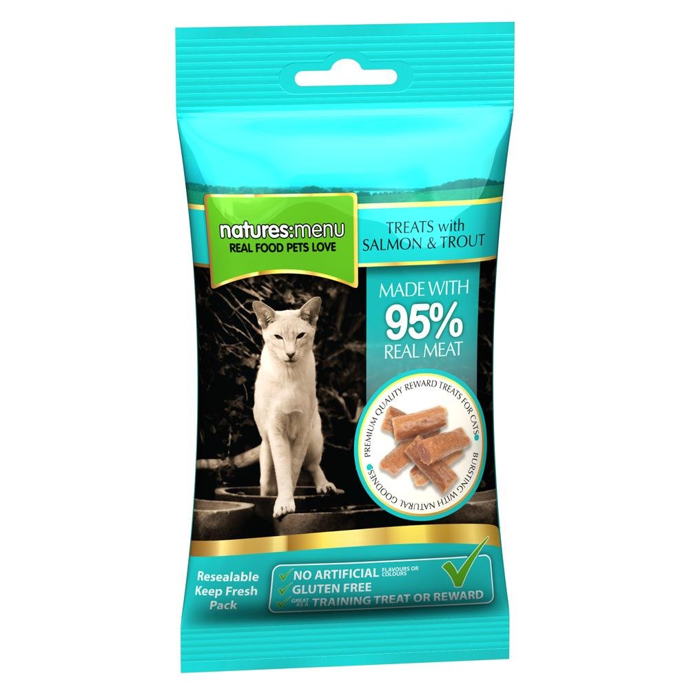 Natures Menu Salmon & Trout Cat Treats 60g - Jacks Pet and Country