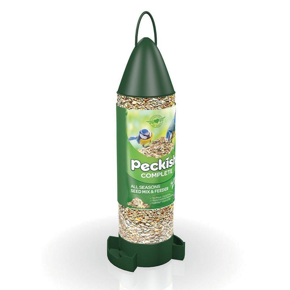 Peckish Complete All Seasons Seed Mix & Feeder 400g - Jacks Pet and Country