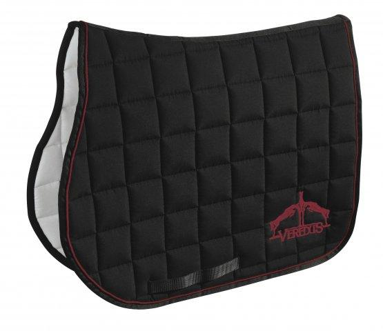Veredus Saddle Cloth Black & Bordeaux - Jacks Pet and Country