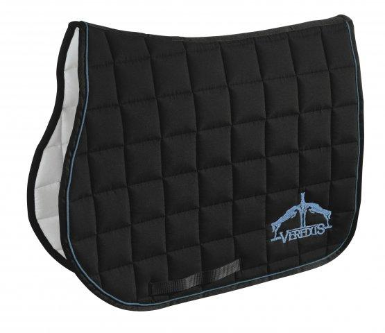 Veredus Saddle Cloth Black & Light Blue - Jacks Pet and Country