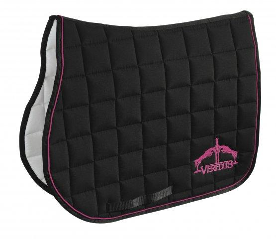Veredus Saddle Cloth Black & Pink - Jacks Pet and Country