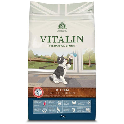 Vitalin British Chicken Kitten Food 1.5kg - Jacks Pet and Country