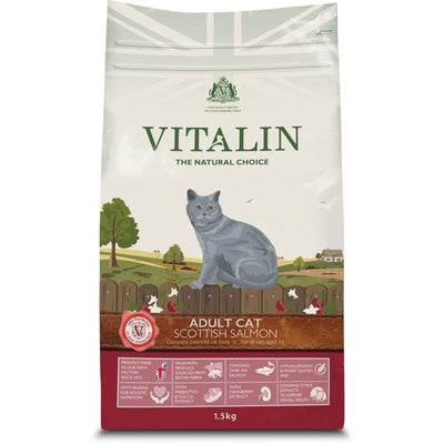 Vitalin Scottish Salmon Adult Cat Food 1.5kg - Jacks Pet and Country