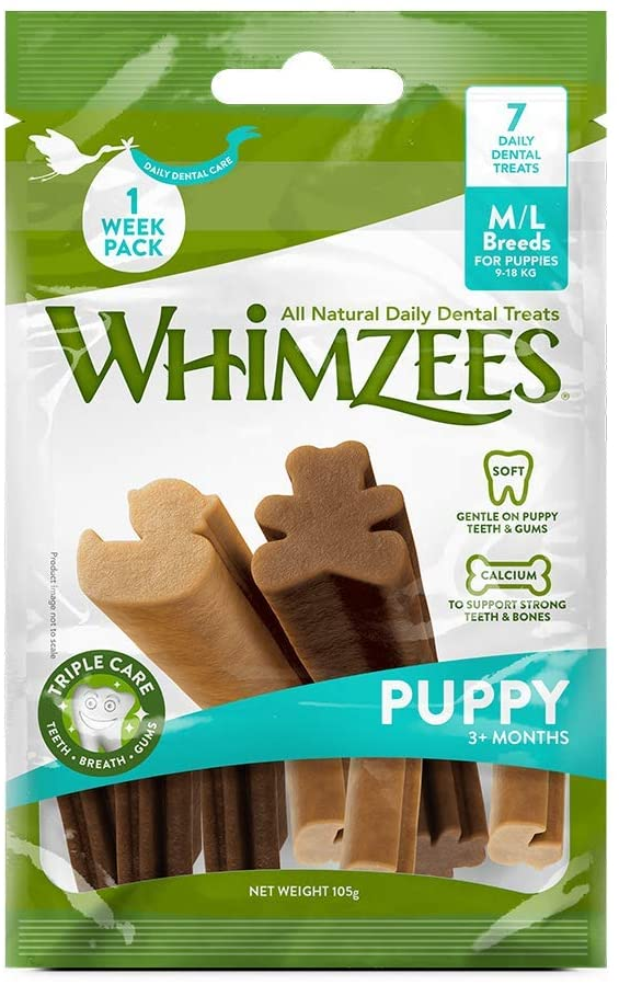 WHIMZEES Puppy Natural Dental Dog Chews Long Lasting M/L - Jacks Pet and Country