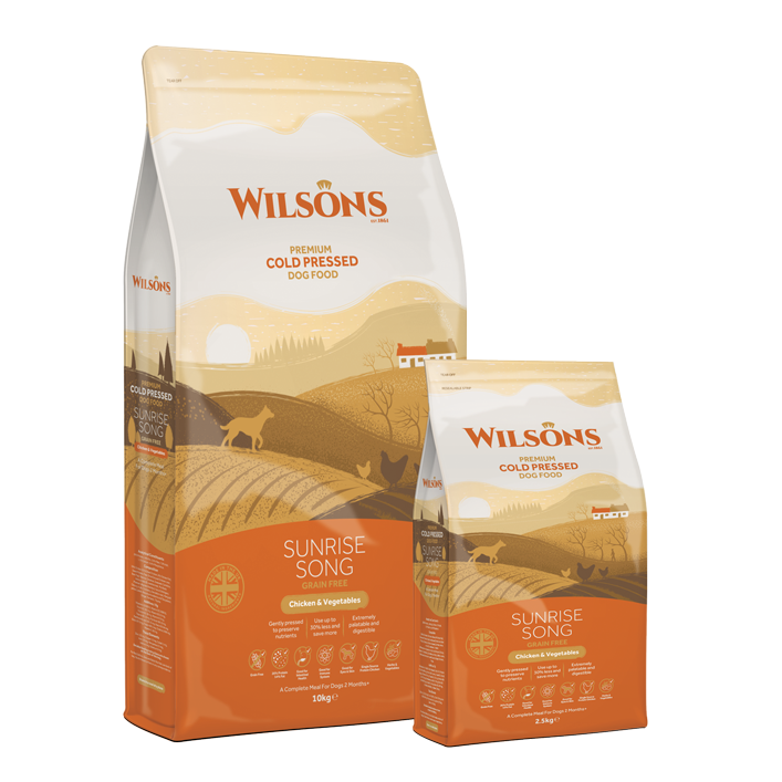 Wilsons Cold Pressed Dog Food Premium Chicken and Vegetables Sunrise Song