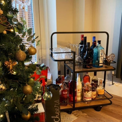 drinks trolley at Christmas