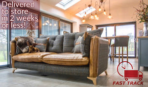 Fast Track Sofas and Armchairs delivered in 2 weeks or less homepage banner.
