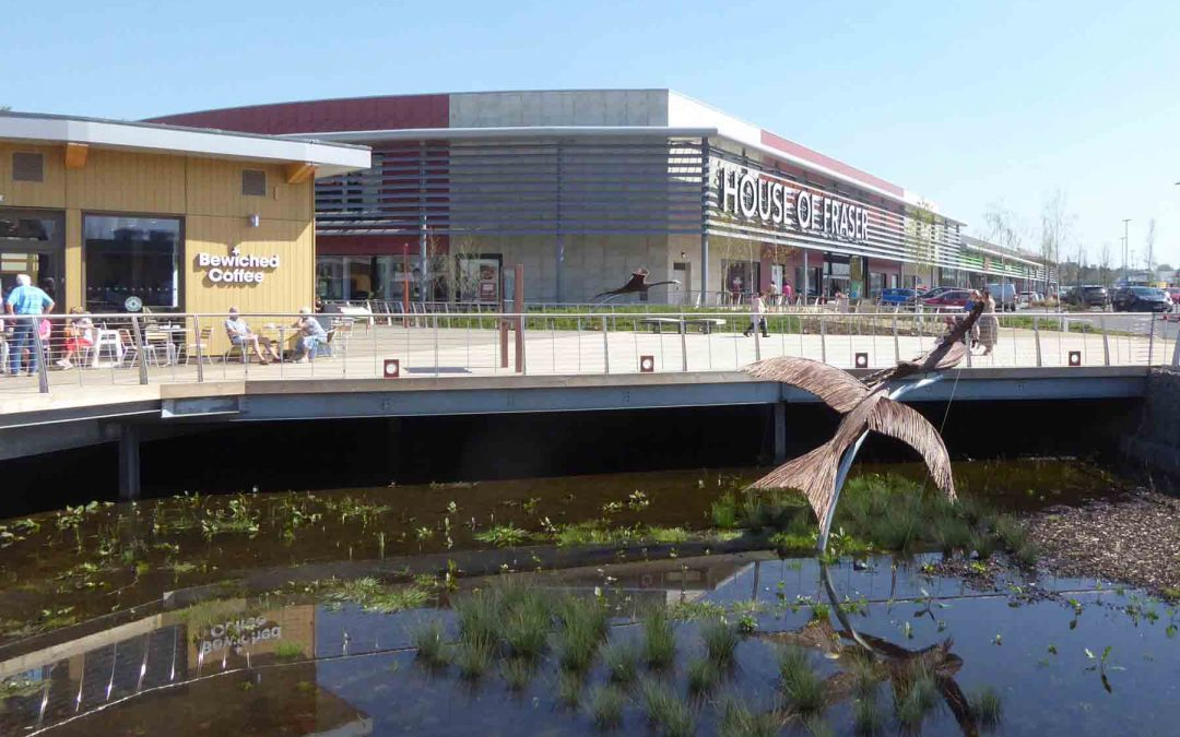 Image of Rushden Lakes Retail Park.