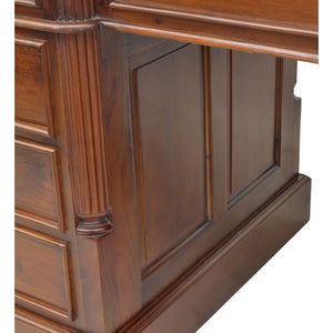 Solid Mahogany Leather Top Executive Desk